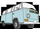 Blue VW Van