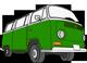 Green VW Van