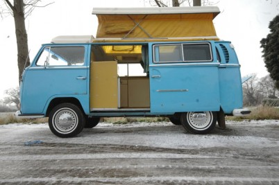 ***Taken 8-5-10. Lucian Holland**71 VW campervan, Blue Deluxe model.