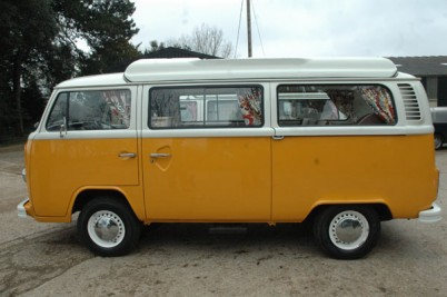 RHD VW camper built for the Hyatts of Oxfordshire taken 30-1-10