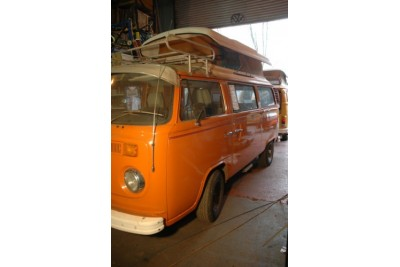** collected 4/7/09 by The Andrews of Henley **1978 Volkswagen camper, Burnt Orange 2 litre engine and box RHD Oz import
