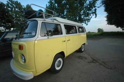** taken 22-5-10 . The Croft Family** 1974 VW campervan, 4 berth camper