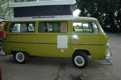 Collected 23/10/10 by the The Allens of Pinner** 1976 RHD vw campervan  in stock. Olive martini paintwork