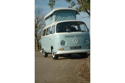 collected 31-9-11 by the Snowdens of West Midlands. 1971 RHD VW camper. Full G'day wanderer Deluxe rebuild