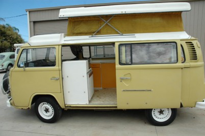 **1974 VW Campervan. Wattle yellow. 2 litre.r** sold and gone to Yorkshire 5/4/09.