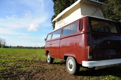 11-7-13 ** Collected by the McCorqudales of Scotland**  RHD Rust free 4 berth camper from South Africa. New headlining, pop top, full re-trim in Cream and Maroon