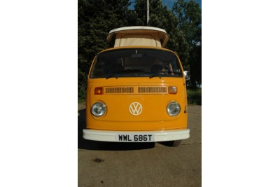 **taken  11/0709 by Baxendales of Hemel**1978 Vw RHD VW Campervan. Full repaint, zero rust. Very bright orange paintwork
