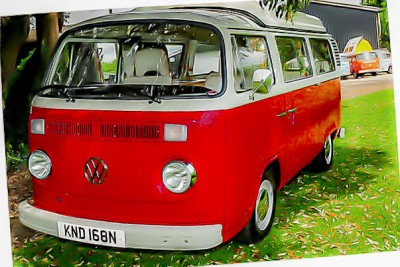 Another G'day Safari deluxe vw camper built to order. repainted in VW Tornado red and vw pastel white