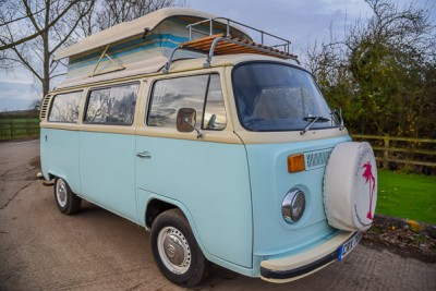 **March 2017**. Classic RHD vw camper van for sale. 1800cc type 4 engine, 3/4 interior. Lovely new pop top ready to go