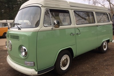 ** SOLD March 2017** 72 Cross over Wanderer. Birch green over white. 2.1 Type 4 engine. Full high end build. Be quick Rhd vw campers for sale don't last long