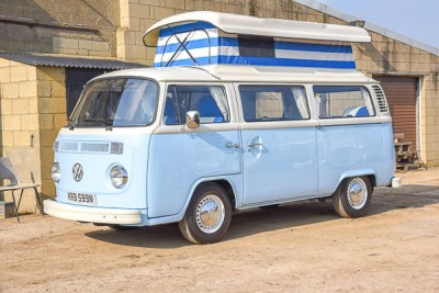 The Hampshire's Wanderer build. Another late bay in blue and white!