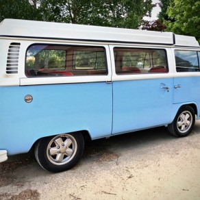 **July 2018**LHD Westfalia Wanderer, Full repaint in blue and white. Zero miles nut and bolt rebuild. 5 Berth camper