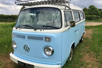 *July 2017* Just back in to stock** Blue and white Wanderer, Solar panel, power steering. new canvas and lower half paint