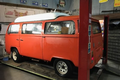 Red dormobile for sale, full mechanical overhaul. NOW TO BE PAINTED AND REGISTERED FROM £23 000