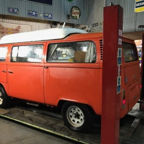 Red dormobile for sale, full mechanical overhaul