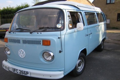 ** Sold 24-11-09 the Knights of Hampshire**1976 flipper blue 2 litre 4 berth camper
